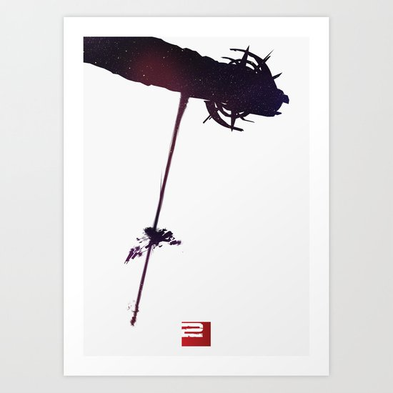 Mass Effect 2 (w/quote) Art Print