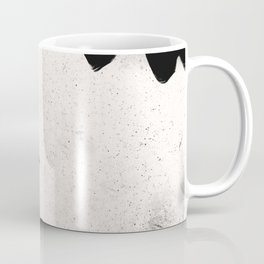 Black and White Grunge Modern Art Coffee Mug