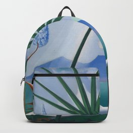 Neapolitan Song, Mount Vesuvius Italian seascape painting by Joseph Stella Backpack