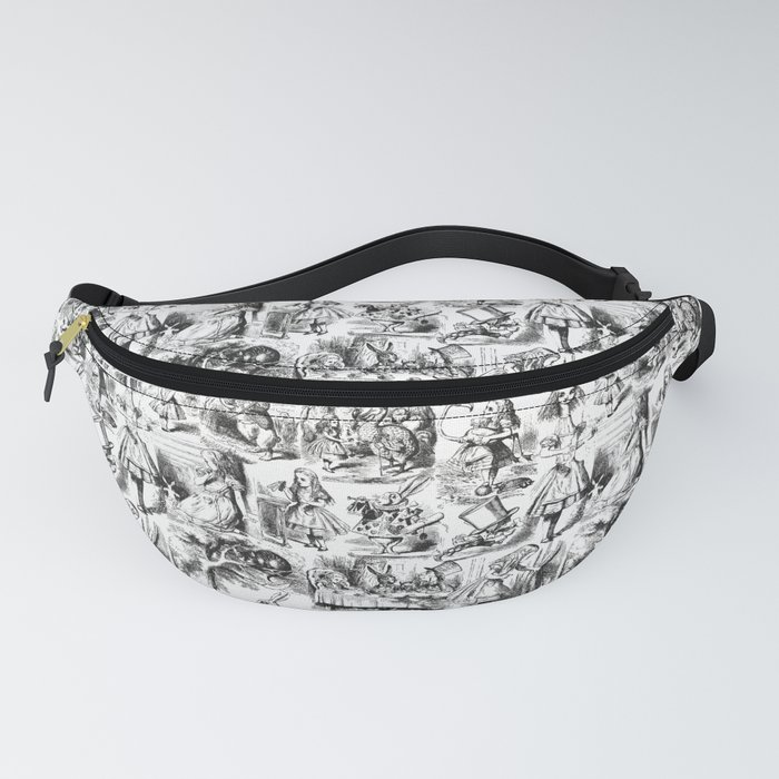 Alice in Wonderland | Toile de Jouy | Black and White Fanny Pack