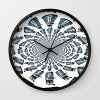 dalek Wall Clocks featuring Dalek by Natasha Lake
