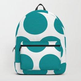 Large Polka Dots: Teal Backpack