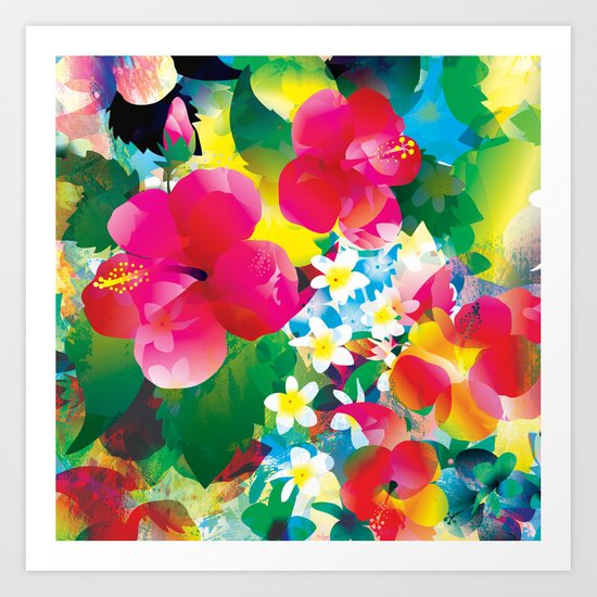 Hawaiian jungle Art Print