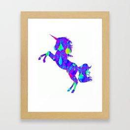 Latern unicorn cool 1 Framed Art Print