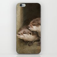 otters iPhone & iPod Skins featuring The curious otters by Pauline Fowler ( Polly470 )