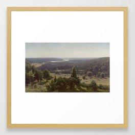 The Gauja Valley,  Jūlijs Feders Framed Art Print