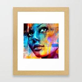 Dreaming in blue Framed Art Print