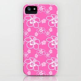 Pink Hawaiian Hibiscus Flowrs iPhone Case