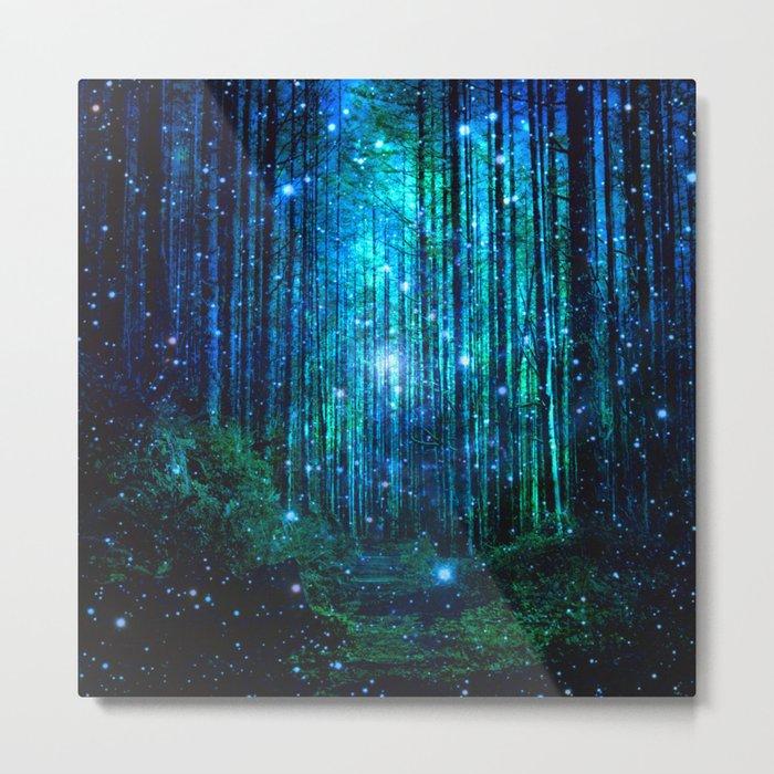 magical path Metal Print - nature square metal wall decor