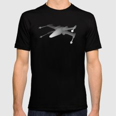 Star Wars X-Wing Mens Fitted Tee MEDIUM Black