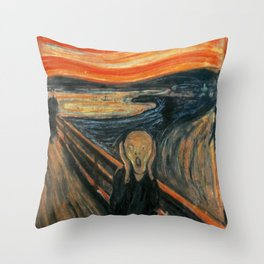 The Scream by Edvard Munch Throw Pillow