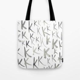 Watercolor K's - Grey Gray Tote Bag