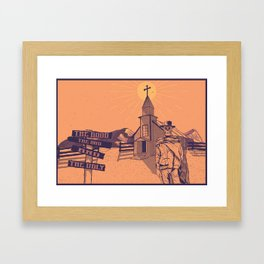 The Good, the Bad & the Ugly illustration Framed Art Print
