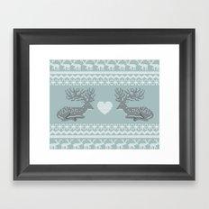 Dear & Love Framed Art Print