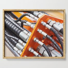 Hoses of hydraulic machine Serving Tray