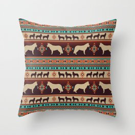 Boho dogs | Siberian Husky sunset Throw Pillow