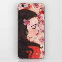 snow white iPhone & iPod Skins featuring Snow White by Sarah Larguier