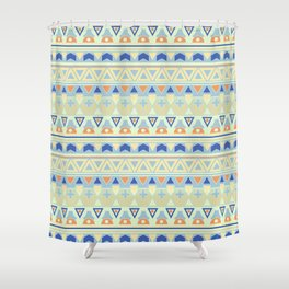 Ethnic Tribal Pastel Shower Curtain