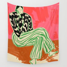 CALM WOMAN PORTRAIT Wall Tapestry