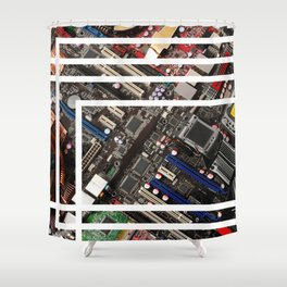 Computer boards Shower Curtain