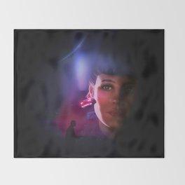 Rachael Blade Runner Poster Throw Blanket
