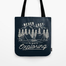 Never Lost Always Exploring (Cream) Tote Bag