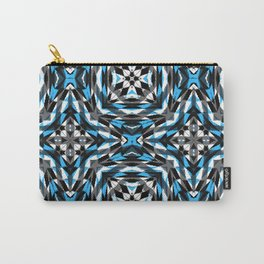 Blue Black and white Geomtric Carry-All Pouch