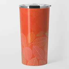 LEAVES ENSEMBLE ORANGE FLAME Travel Mug