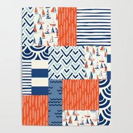 Beautiful Patch 9 (Nautical) Poster