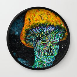 Head In The Clouds Mushroom Man Wall Clock