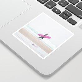 surfing beach vibes Sticker