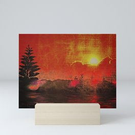 Oriental Landscape Mini Art Print