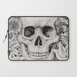 Skull and Flowers Vanitas Laptop Sleeve