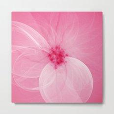 Pink Fairy Blossom Fractal Metal Print