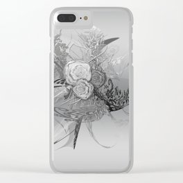 50 Shades of lace Silver Silver Clear iPhone Case