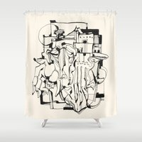 solid Shower Curtains featuring Solid Ground by 5wingerone