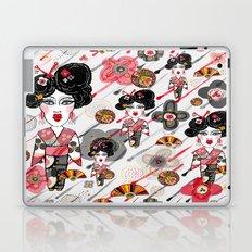 Geisha in the Rainy Garden Laptop & iPad Skin