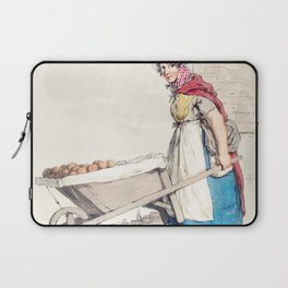 Illustration of a barrow-woman from Picturesque Representations of the Dress and Manners of the Engl Laptop Sleeve