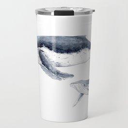 Humpback whale with calf Travel Mug