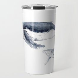 Humpback whale with calf Travel Mug
