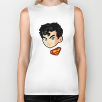 superman Biker Tanks featuring Superman by studio1six