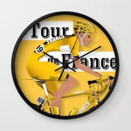 Tour De France cycling grand tour Wall Clock