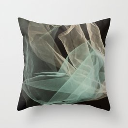 Abstract veil background Throw Pillow