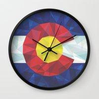 colorado Wall Clocks featuring Colorado by Fimbis