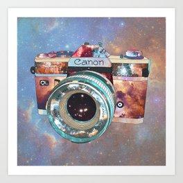 SPACE CAN0N Art Print