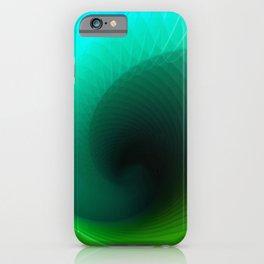 Blue surf geometric blue minimal iPhone Case