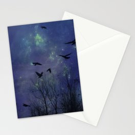 Celestial Night Of Crows Stationery Cards