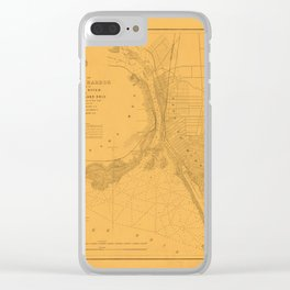 Map of Buffalo 1856 Clear iPhone Case