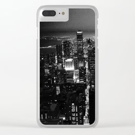 Chicago Skyline From The Signature Room in B&W Clear iPhone Case
