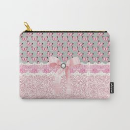 Butterflies in Pink Carry-All Pouch